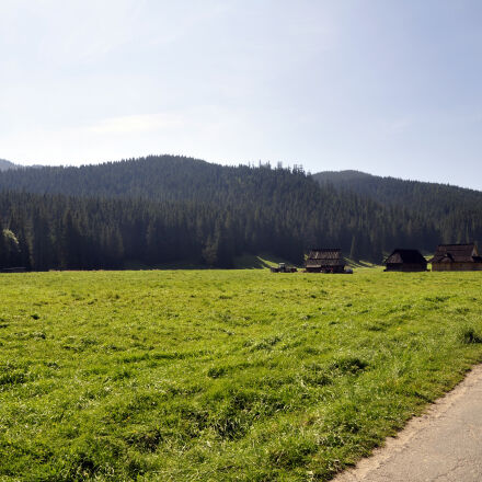 field, mountains, poland, Nikon D5000