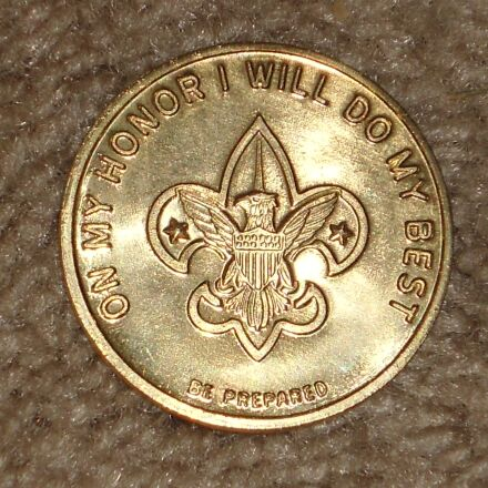 boy scout, coin, be, Sony DSC-W510