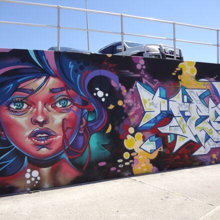 graffiti, bondi beach, sydney, Sony DSC-WX30