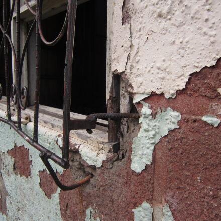 peeling, wall, wall, window, Canon POWERSHOT A3200 IS