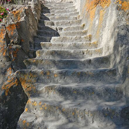 stone steps, staircase, andes, Nikon COOLPIX AW100