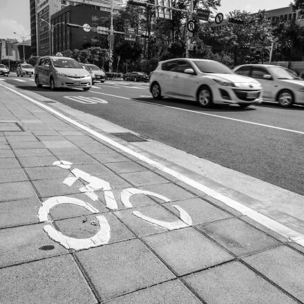 bike, path, city, Fujifilm X-T1