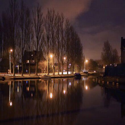 lead, city, night, Olympus E-M10