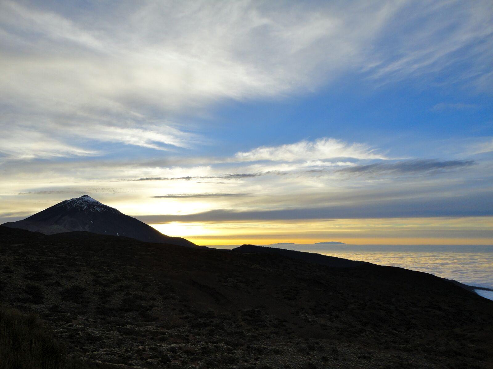 "Sony DSC-W350 sample photo. ""Teide, sunset, sky"" photography"