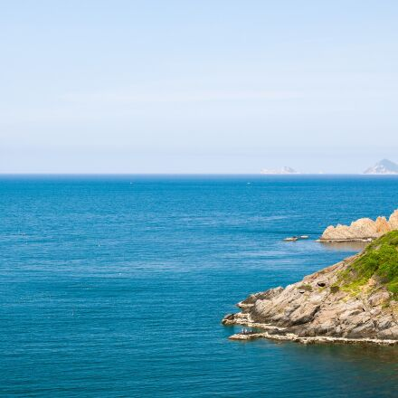 sea, island, ocean, Pentax K-7