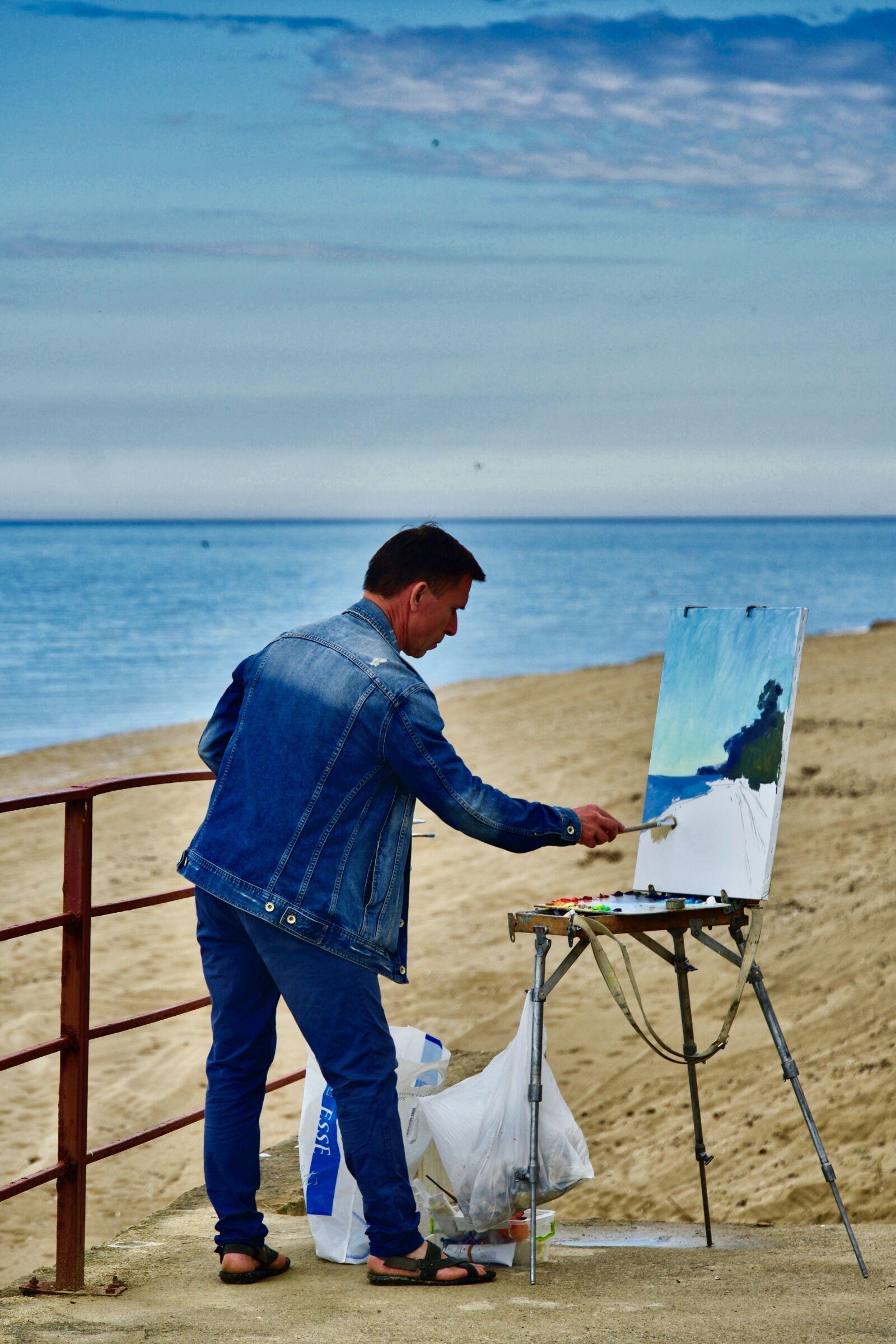 "Sony a6500 sample photo. ""Painter, artist, creative"" photography"