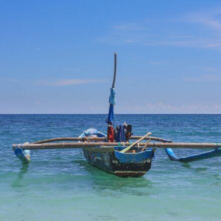 boat, sea, bay, Canon EOS 1000D