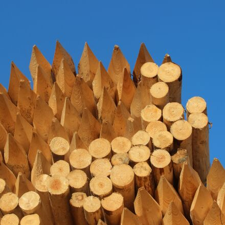 wood, wooden posts, stack, Canon EOS 600D