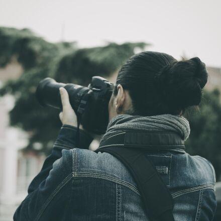 woman, taking, photo, photographer, Samsung NX3000