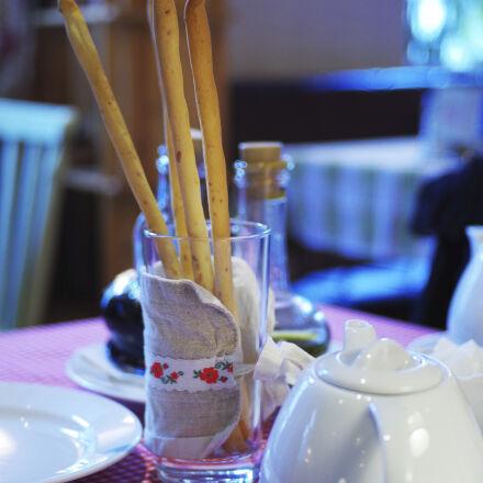bread, cafeteria, table, tea, Pentax K-50