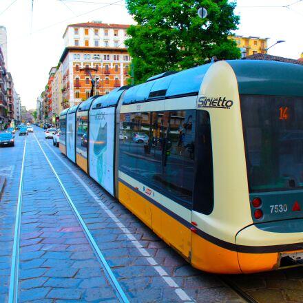 city, tram, downtown, Canon EOS 1300D