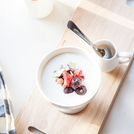 yoghurt, milk, snack, Canon EOS 5D MARK II