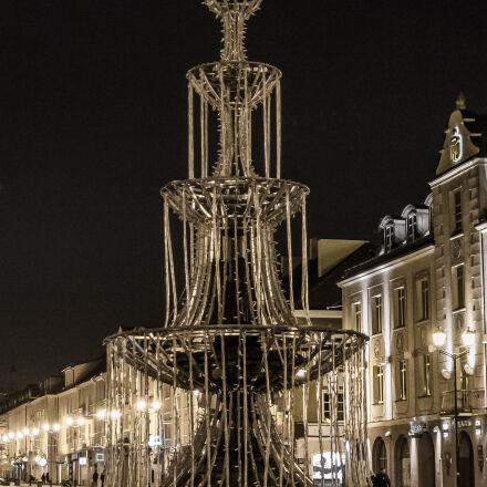 fountain, lights, night, Canon EOS 7D