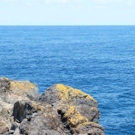 blue, blue water, horizon, Panasonic DMC-FZ60