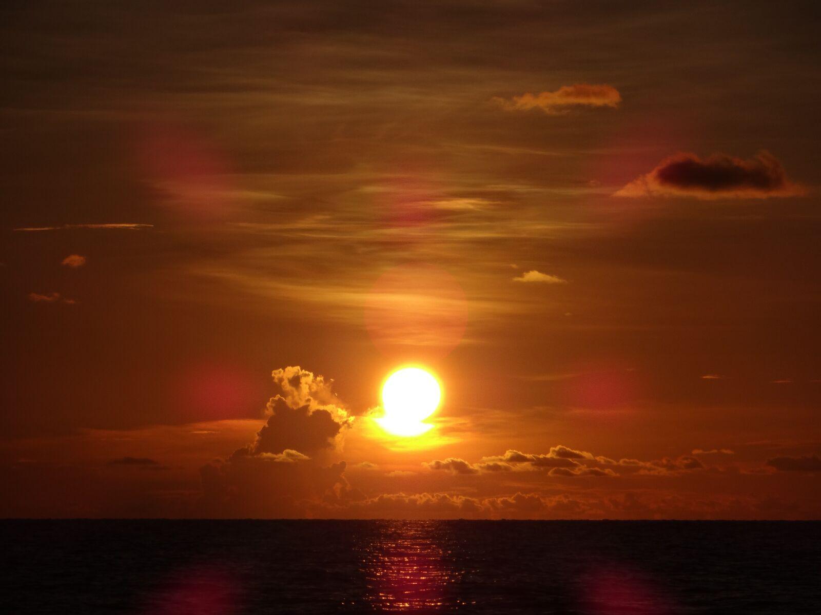 sunset, sun, beach