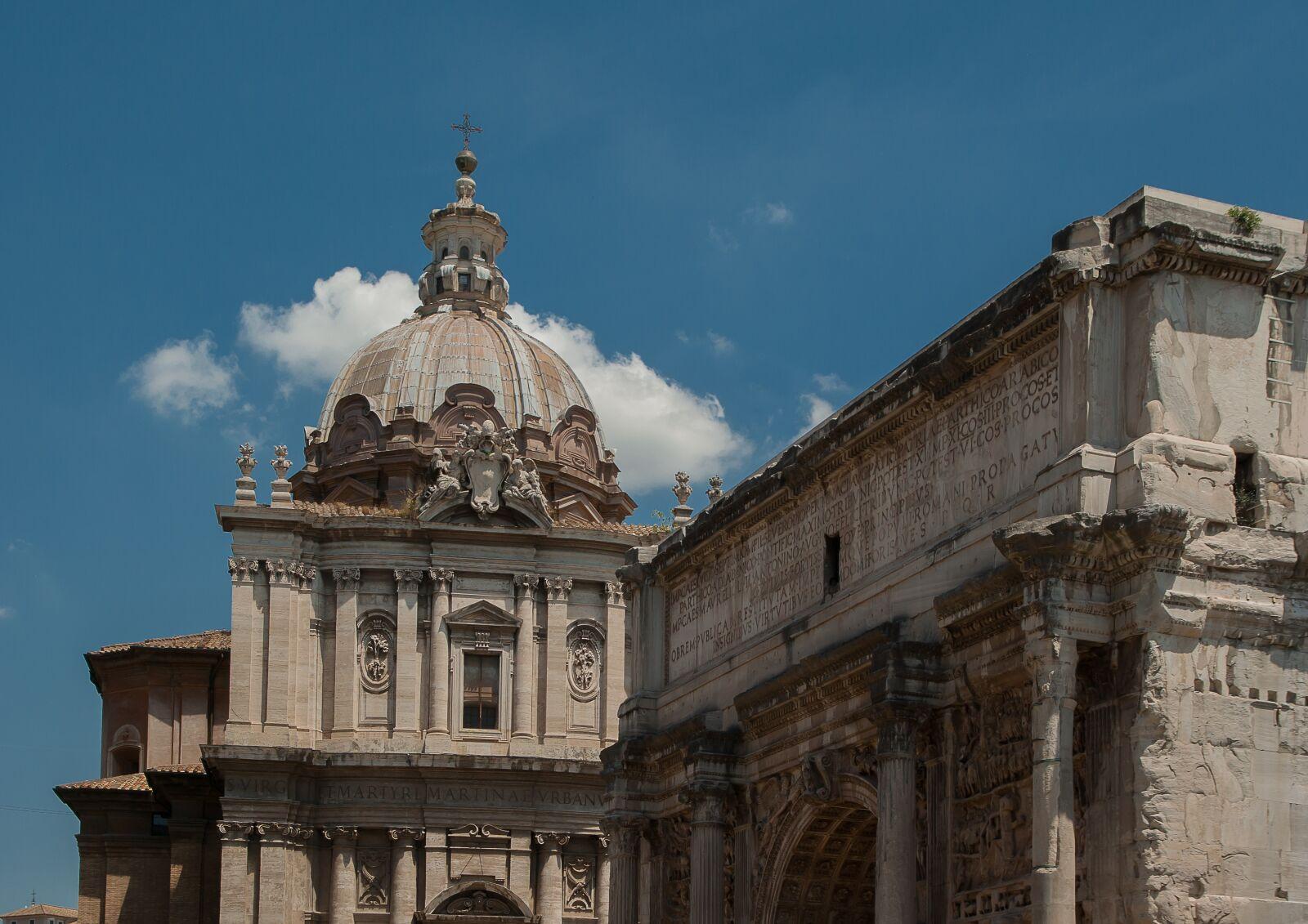 "Pentax K10D sample photo. ""Rome, triumphal arch, titus"" photography"