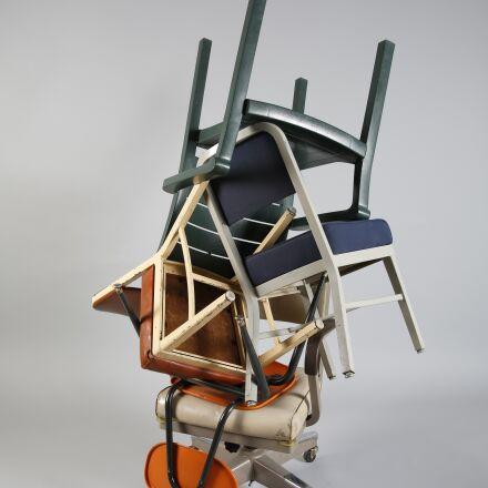 chairs, blue, orange, Canon EOS 5D MARK III