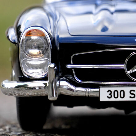 mercedes, benz, blue, car, Sony ILCE-6000