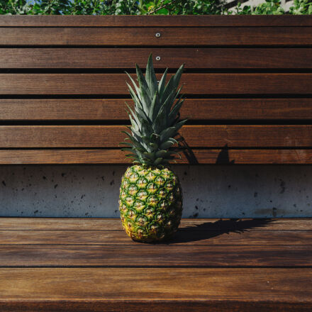 bench, colors, fruit, furniture, Sony ILCE-7M2