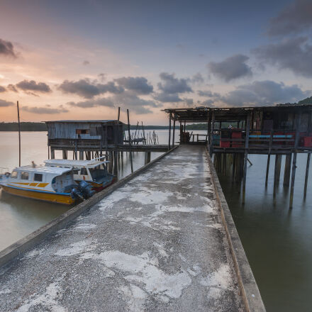 boat, bridge, cottage, engine, Nikon D90