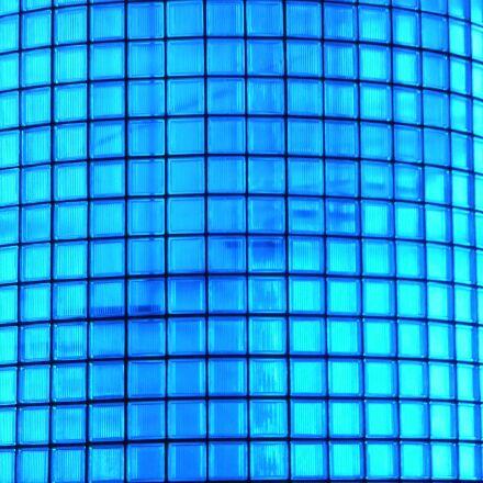 glass block, blue, glass, Fujifilm FinePix F550EXR