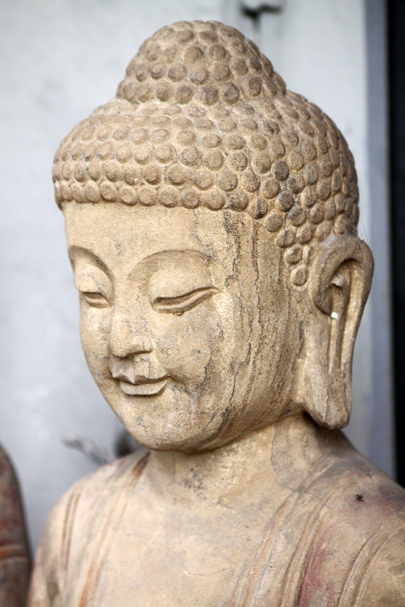 "Canon EOS 50D sample photo. ""Sculpture, buddha, stone"" photography"