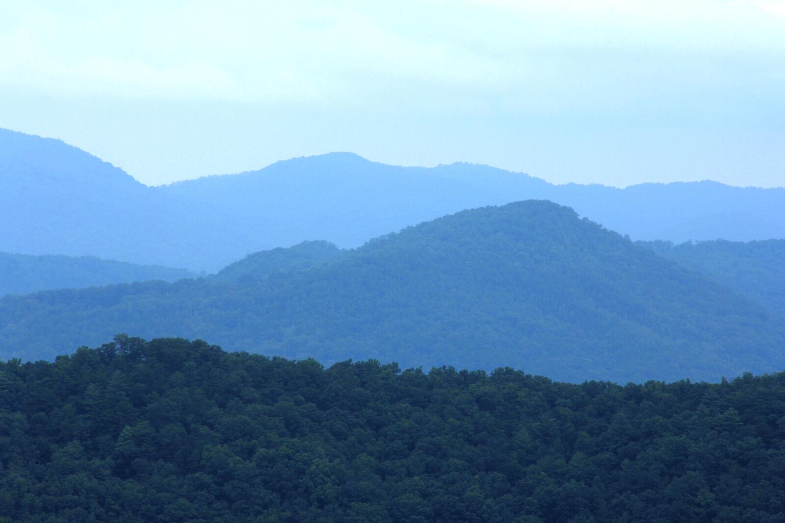 "Canon EOS 60D sample photo. ""Mountains, cloudy, blue, fog"" photography"