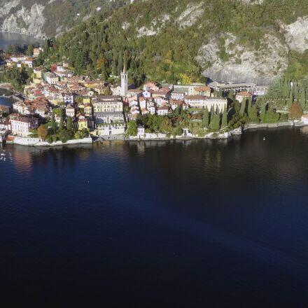 aerial view, lake como, Sony DSC-WX300