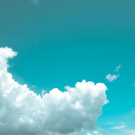 white, cloudy, blue, sky, Samsung NX1