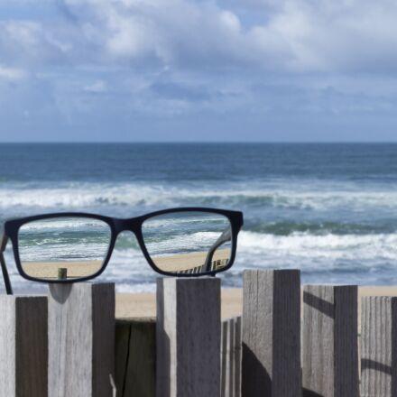 glasses, eyeglasses, beach, Canon EOS 700D