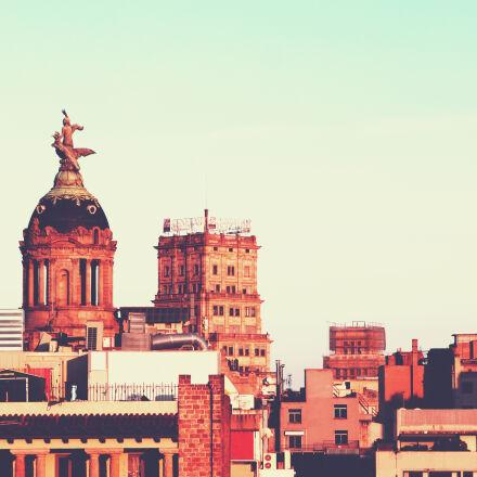 brown, concrete, buildings, Canon EOS REBEL T1I