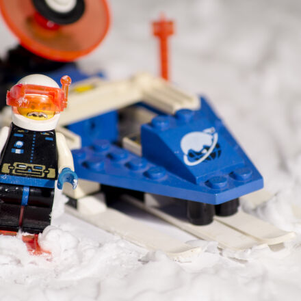 lego, snow, snowmobile, Sony SLT-A58