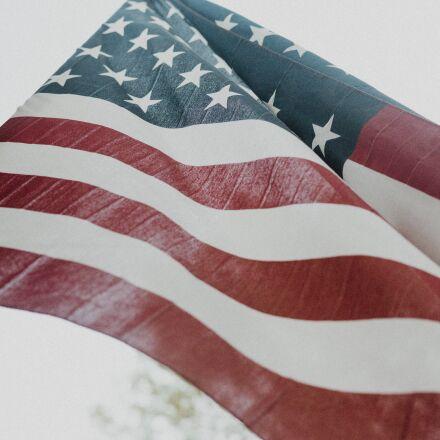 american flag, close-up, flag, Fujifilm X-Pro2