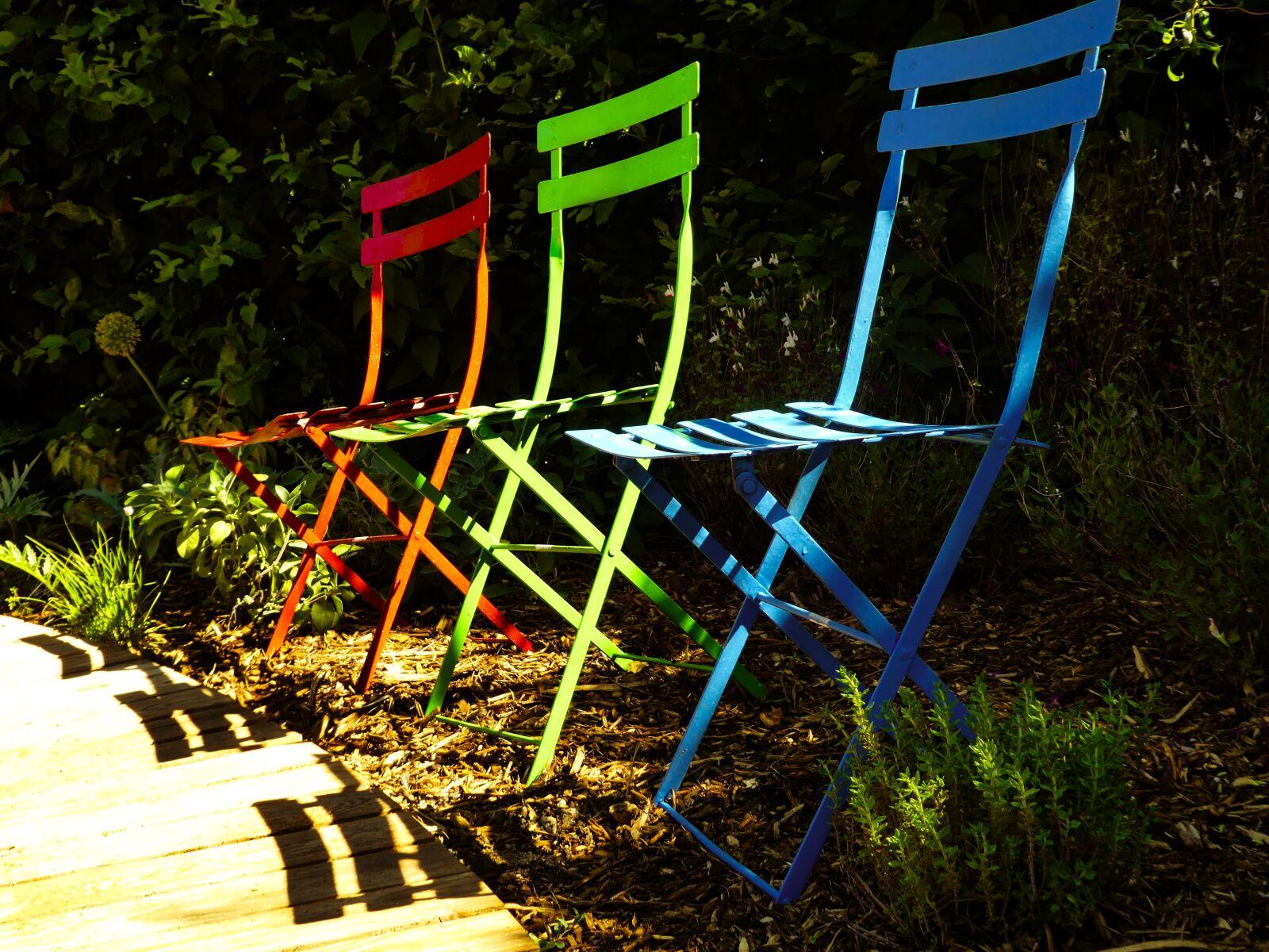 chairs, garden, blue