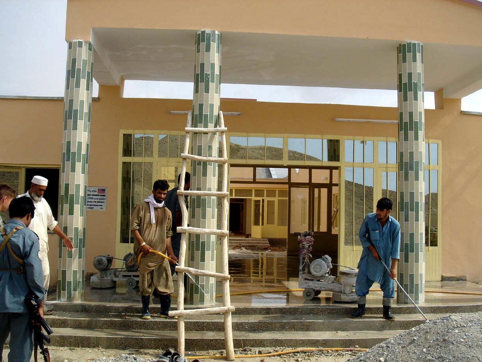 new, schools, clinics, shops