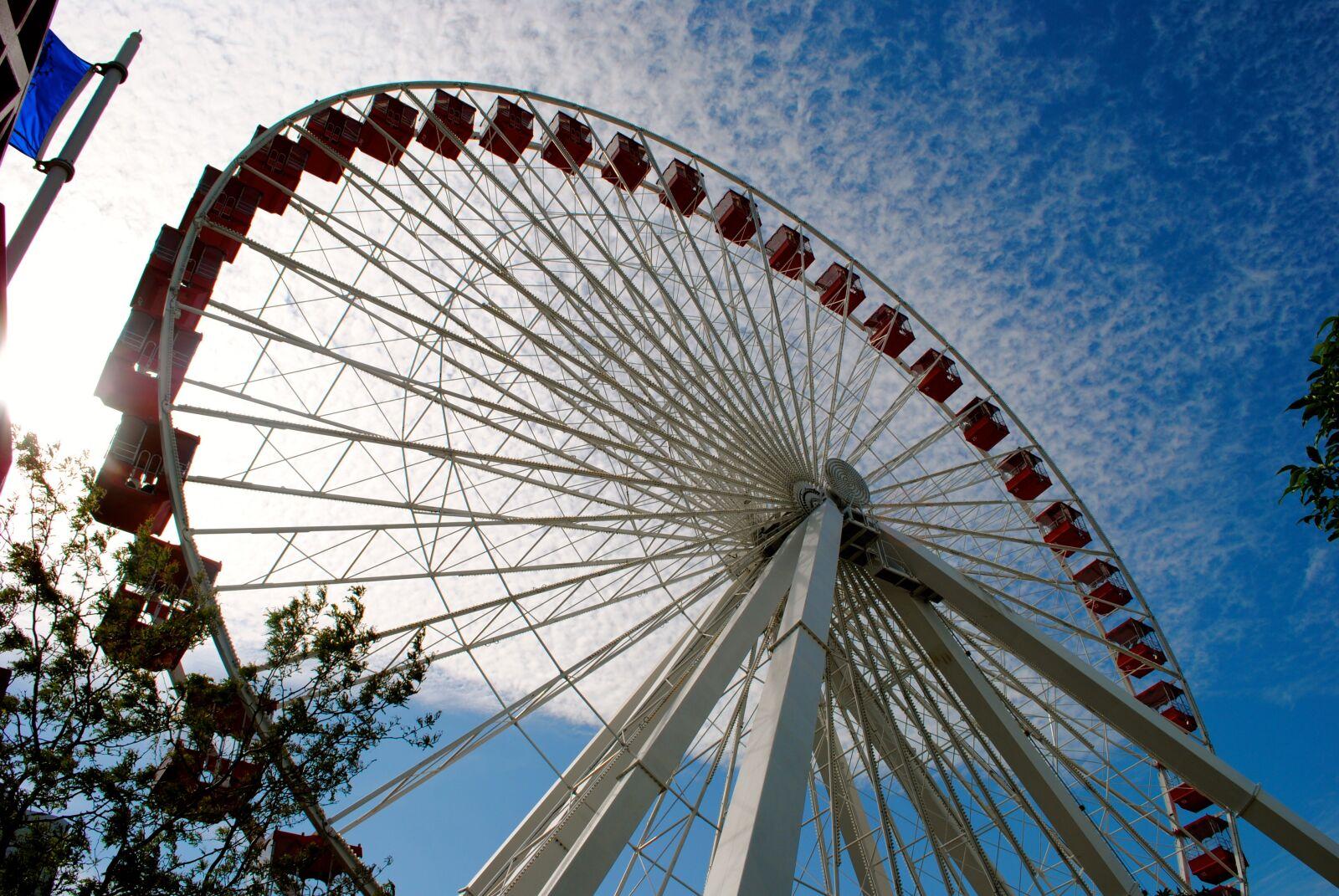 "Nikon D3000 sample photo. ""Farris wheel, sky, entertainment"" photography"