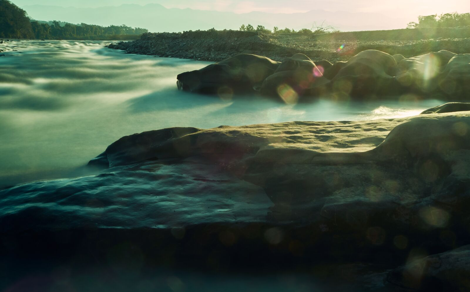 """Sony a6400 sample photo. """"River, rocks, nature"""" photography"""
