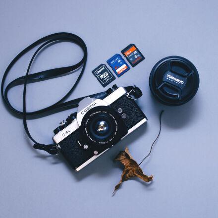 black, and, gray, camera, Nikon D5500
