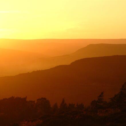 peak district, sunset, district, Fujifilm FinePix S602 ZOOM