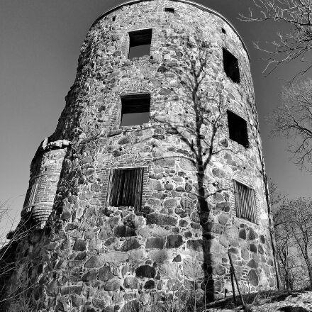 ruin, castle, architecture, Nikon D700
