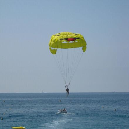 parachute, sea, seaside, smiley, Canon DIGITAL IXUS 85 IS