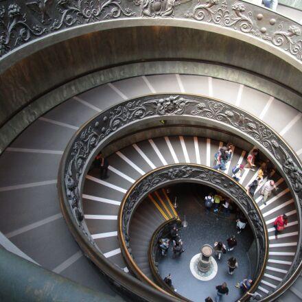 vatican, museum, stairs, Canon IXUS 155