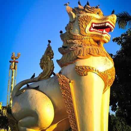 asia, golden, myanmar, statue, Nikon D700