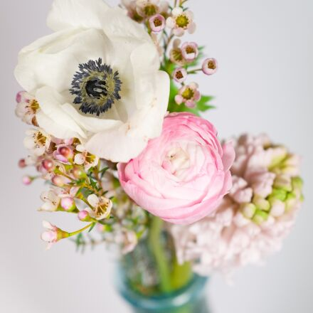 flowers, bouquet, bokeh, Fujifilm X-Pro2