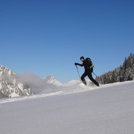 snowshoe, snow, snowshoeing, Sony DSC-WX100