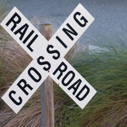railroad crossing, sign, railway, Panasonic DMC-FZ60