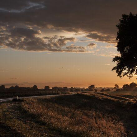 evening, sun, sunset, Canon EOS 40D