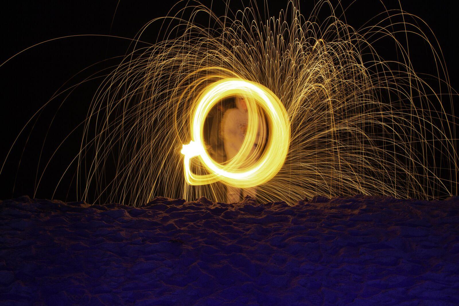 light painting, steel wool