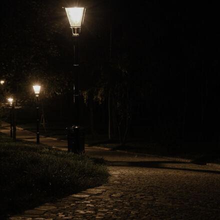alley, lantern, light, path, Nikon D600