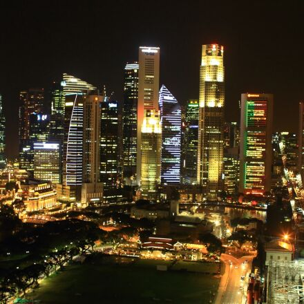 singapore, night view, marina, Canon EOS 7D